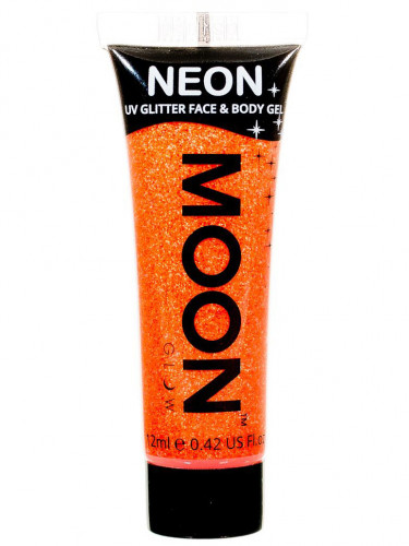 Gel visage et corps paillettes orange UV 12 ml Moonglow ©