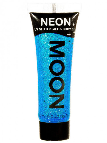 Gel visage et corps paillettes bleu UV 12 ml Moonglow ©