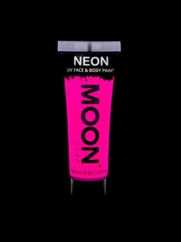 Gel visage et corps rose fluo UV 12 ml Moonglow ©-1