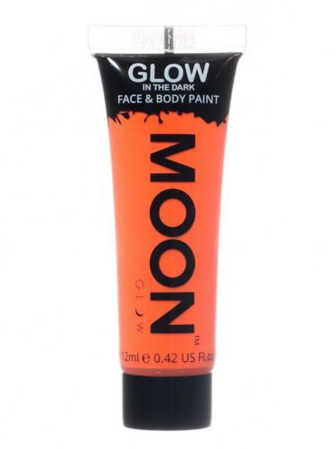 Gel visage et corps orange fluo phosphorescent 12 ml Moonglow ©