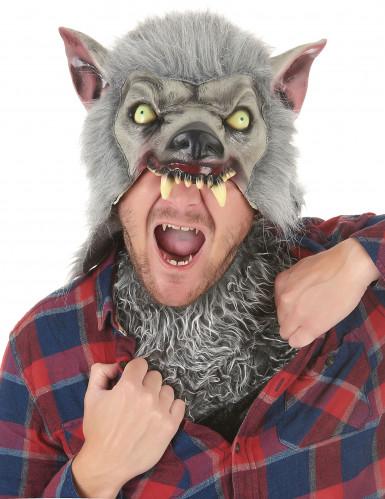 Masque en latex Loup garou adulte