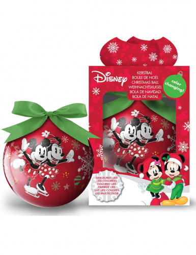 Boule lumineuse Minnie™ 7,5 cm Noël