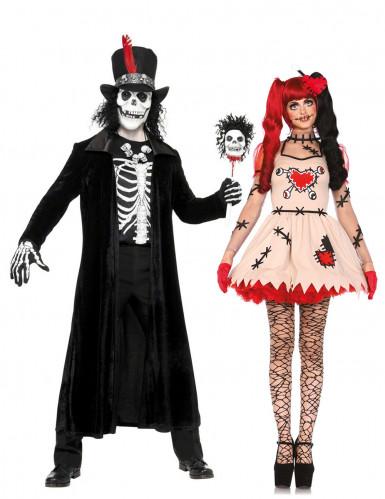 Déguisement de couple vaudou Halloween