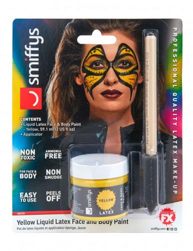 Maquillage latex liquide jaune avec éponge 59 ml-1
