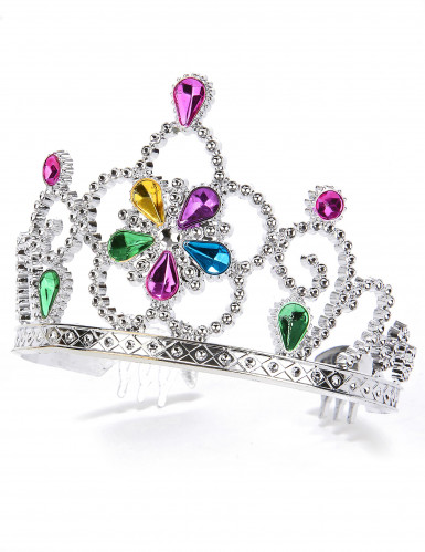 Diadème princesse serti multicolore adulte et enfant