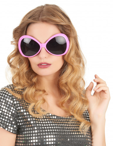 Lunettes disco adulte rose-1