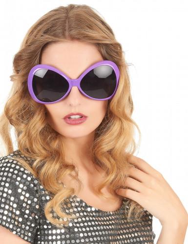 Lunettes disco adulte violet-1