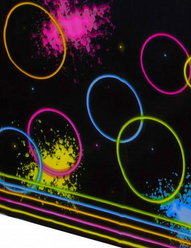 Nappe en plastique Glow Party noire 137 x 259 cm-1