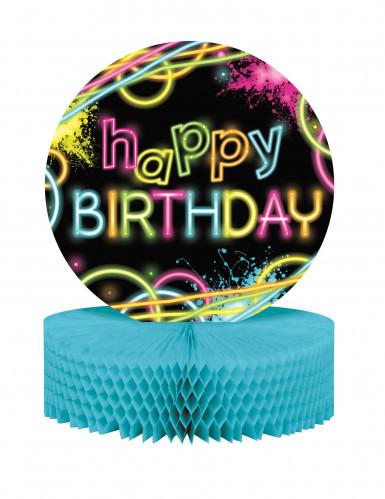 Centre de table Happy birthday Glow Party