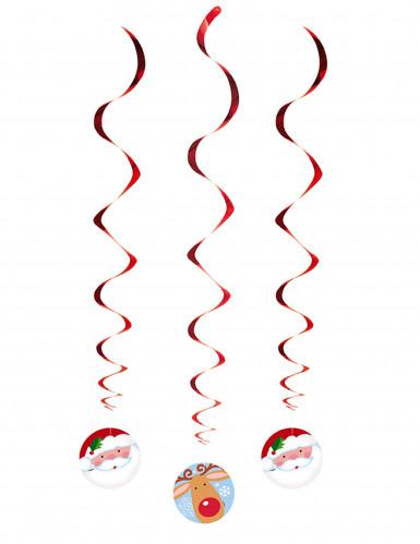 3 Suspensions spirales Père Noël et Renne-1