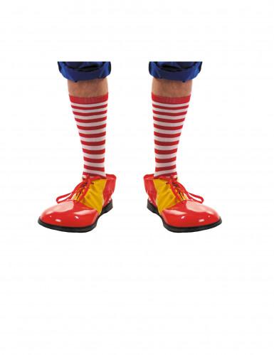 Chaussettes rayées rouges et blanches adulte
