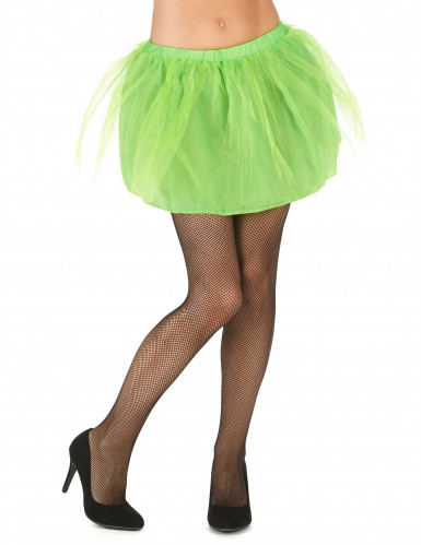 Tutu vert avec jupon opaque femme