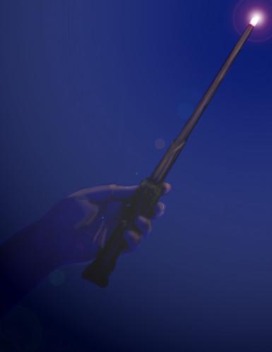Réplique baguette lumineuse Harry Potter™-1