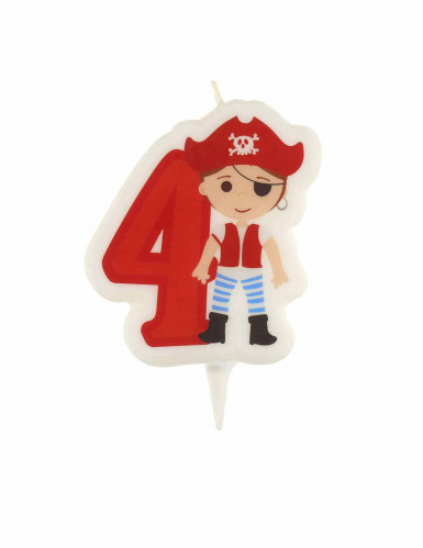 Bougie d'anniversaire pirate chiffre 4