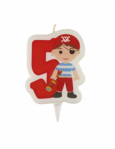 Bougie d'anniversaire pirate chiffre 5