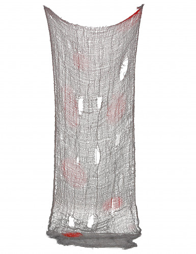 Décoration drap troué ensanglanté Halloween 150 x 75 cm