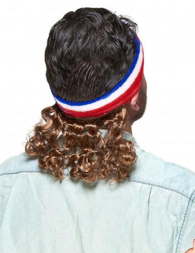 Bandeau Mulet Bleu blanc et rouge avec moustache-1