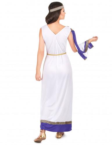 Déguisement Romaine longue violette femme-2