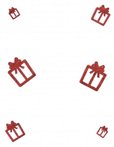 6 Décorations cadeaux rouges à paillettes 3, 5 et 7 cm-1
