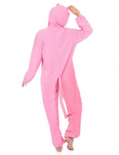 Combinaison à capuche panthère rose femme-2
