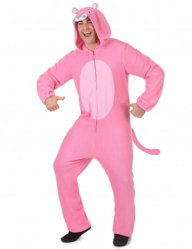 Combinaison à capuche panthère rose homme-1