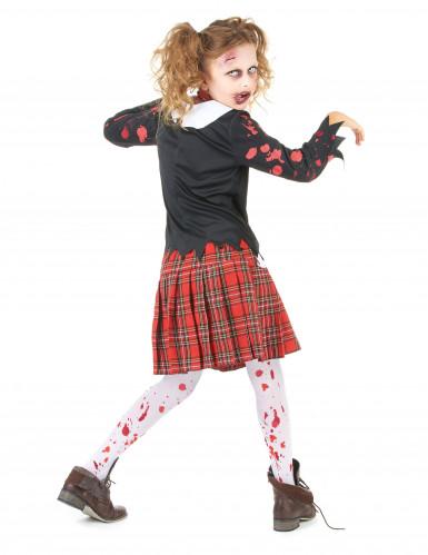 Déguisement écolière zombie fille Halloween-2