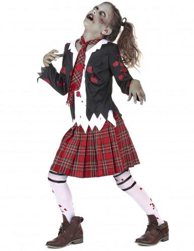 Déguisement écolière zombie fille Halloween-1