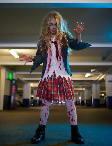 Déguisement écolière zombie fille Halloween-3