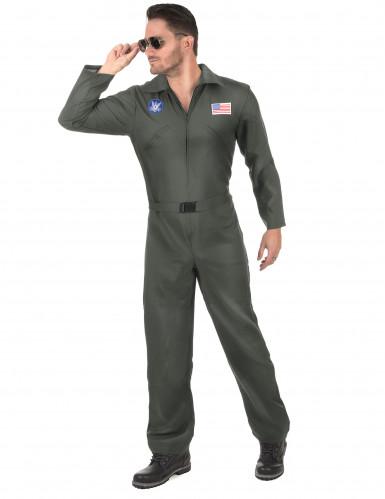 Déguisement de pilote d'avion avec lunettes homme-1