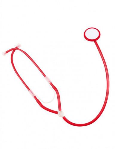 Stéthoscope infirmière rouge adulte-1