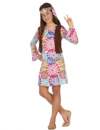 Déguisement hippie psyché fille