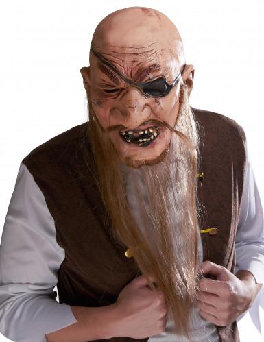 Masque latex pirate barbe longue adulte