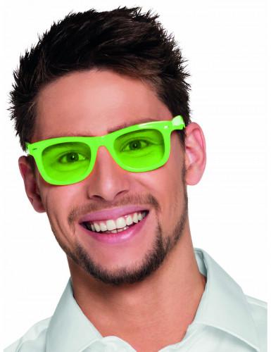 Lunettes vert fluo 80's adulte