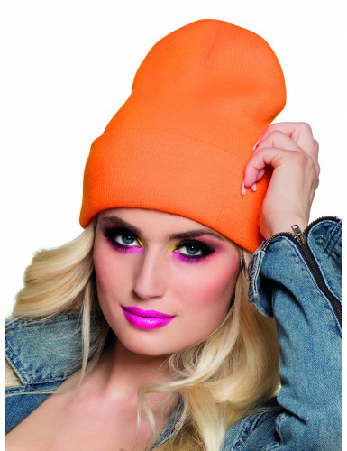 Bonnet orange fluo 90's adulte