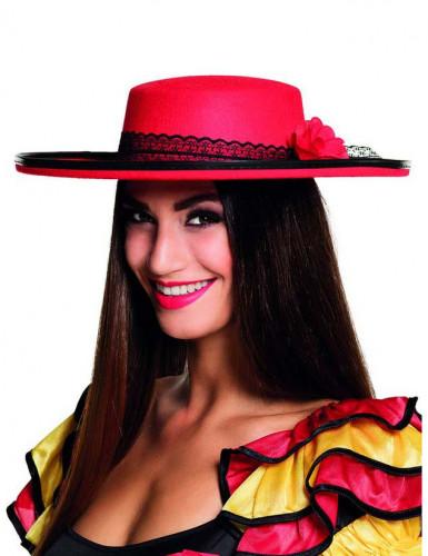 Chapeau danseuse espagnole rouge femme