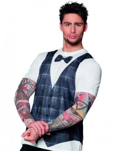 T-shirt hipster tatoué homme