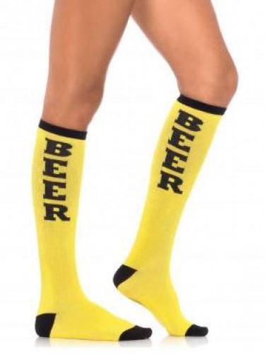 Chaussettes longues jaunes adulte Fête de la bière