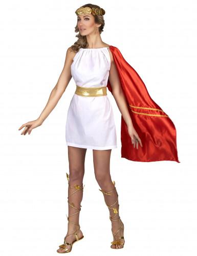 Déguisement romaine rouge et or femme-1