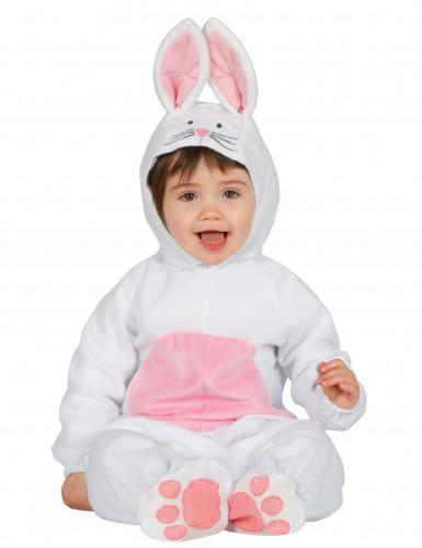 Déguisement lapin blanc et rose bébé