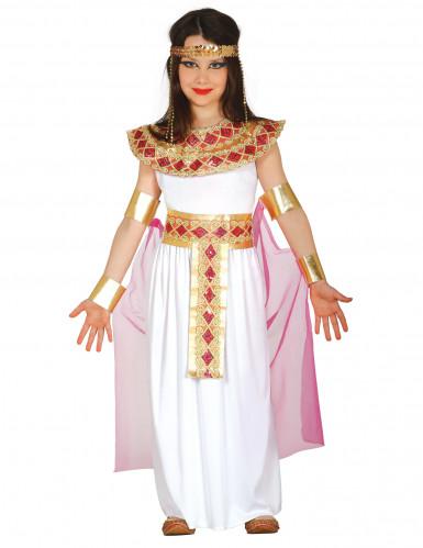 Déguisement égyptienne rose et or fille