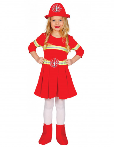 Déguisement robe pompier fille