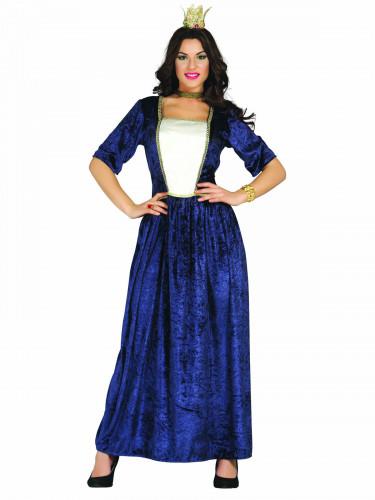 Déguisement dame médiévale bleue femme