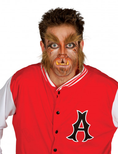 Barbe et sourcils loup-garou homme