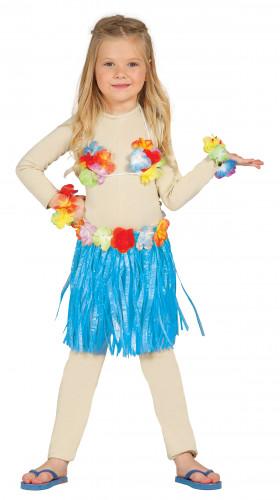 Kit hawaïen bleu enfant