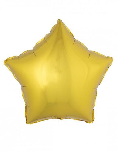 Ballon aluminium étoile dorée 45 cm