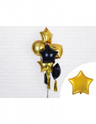 Ballon aluminium étoile dorée 45 cm-1