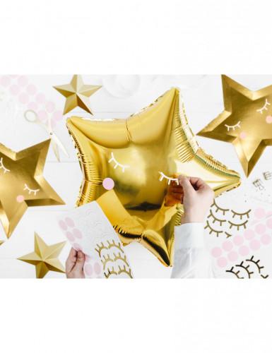 Ballon aluminium étoile dorée 45 cm-2
