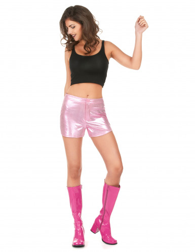 Short disco rose femme