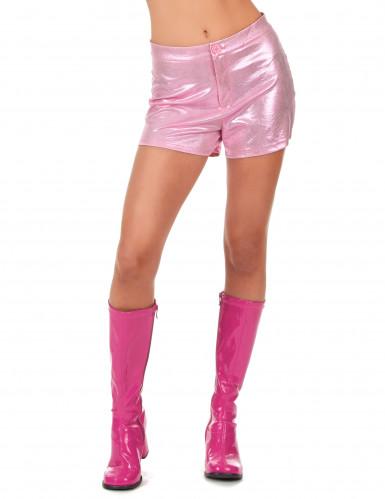 Short disco rose femme-1