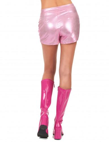 Short disco rose femme-2